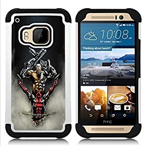 - Sci Fi Warrior Guys - - Doble capa caja de la armadura Defender FOR HTC ONE M9 RetroCandy