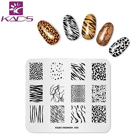 KADS 4 pcs maniküre Stempelschablonen Nail Art Plates Stamping Nagel Bildstempel Schablone Metallplatten Nagel Tattoo