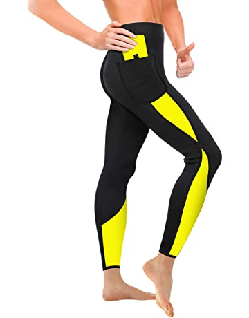 63f47598793 Wonderience Women Sauna Weight Loss Slimming Neoprene Pants with Side  Pocket Hot Thermo Fat Burning Sweat