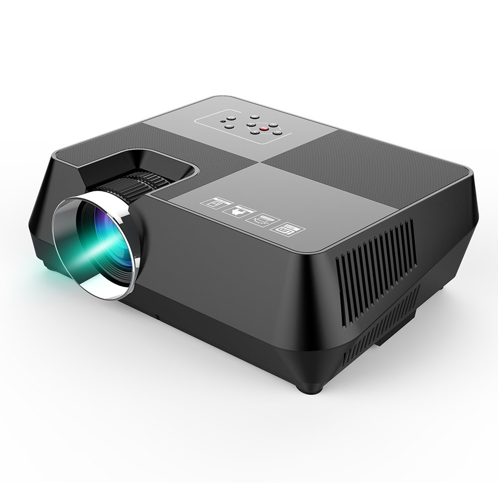 Docooler LCD Proyector LED 1080P Home Theater 1600 Lúmenes 2000:1 ...