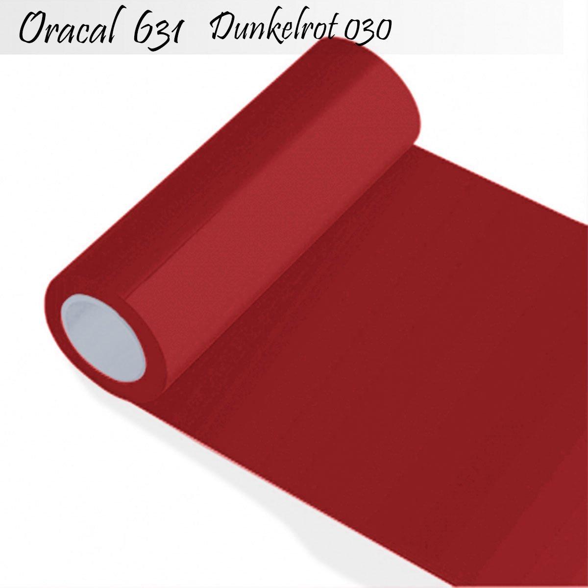 Oracal 631 - Orafol matt - für Küchenschränke und Dekoration Folie 25m Rolle - 100 cm Folienhöhe - 30-dunkelrot - Markierungen, Beschriftungen und Dekorationen - Klebefolie - Plotterfolie - Wandschutzfolie - Möbelfolie - Fahrzeugfolie - selbstklebend - Kü