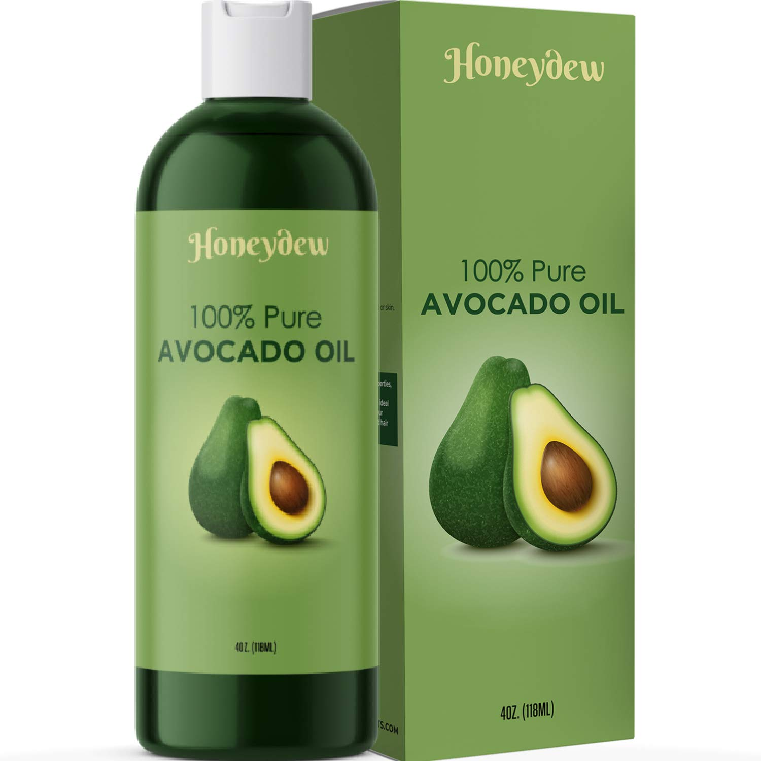 Avocado Oil for Hair Skin and Nails - Cold Pressed Avocado Oil 100% Pure Carrier Oil for Essential Oils Mixing and Nourishing Hair Moisturizer for Dry Hair - Anti Aging Pure Avocado Oil for Skin Care