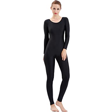 a95071de8 Amazon.com  Gaibest Women Big Scoop neck Tank Unitard Long Sleeve ...