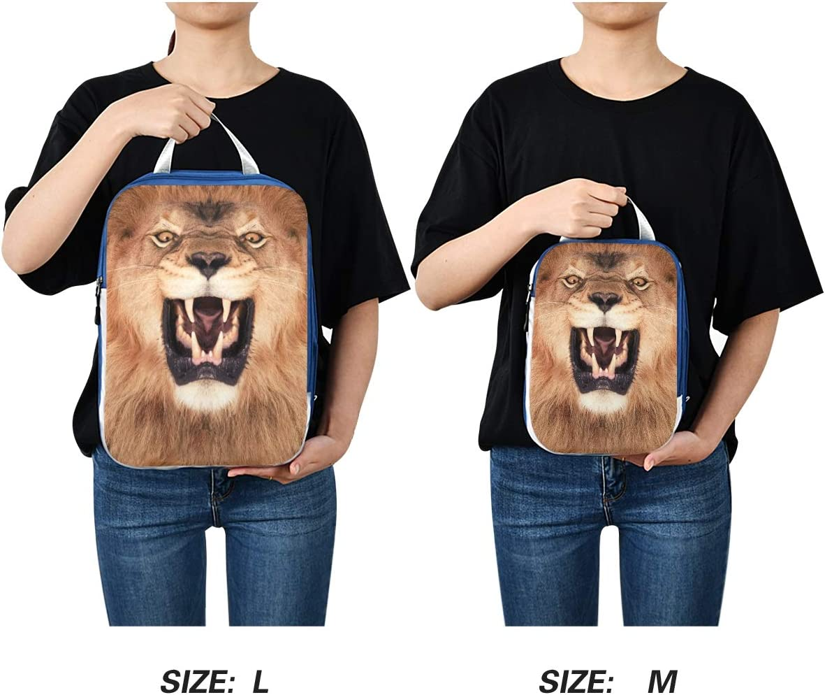 LUPINZ Lion King Travel Luggage Packing Organizers 3 Pieces Travel Cubes