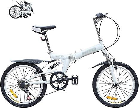 Bikes Plegado Urbana,Bicicleta Plegable, Sillin Confort,Marco De Acero De Alto Carbono Micro Bike,20 Pulgadas 6 velocidades Plegable Bicicleta Folding Bike Bicicleta: Amazon.es: Deportes y aire libre