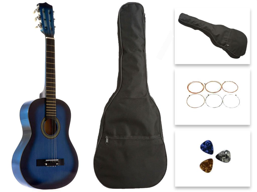 Star Kids Acoustic Toy Guitar 31 Inches Blue with Bag, Strings & Picks, CG5126-BSP-BL
