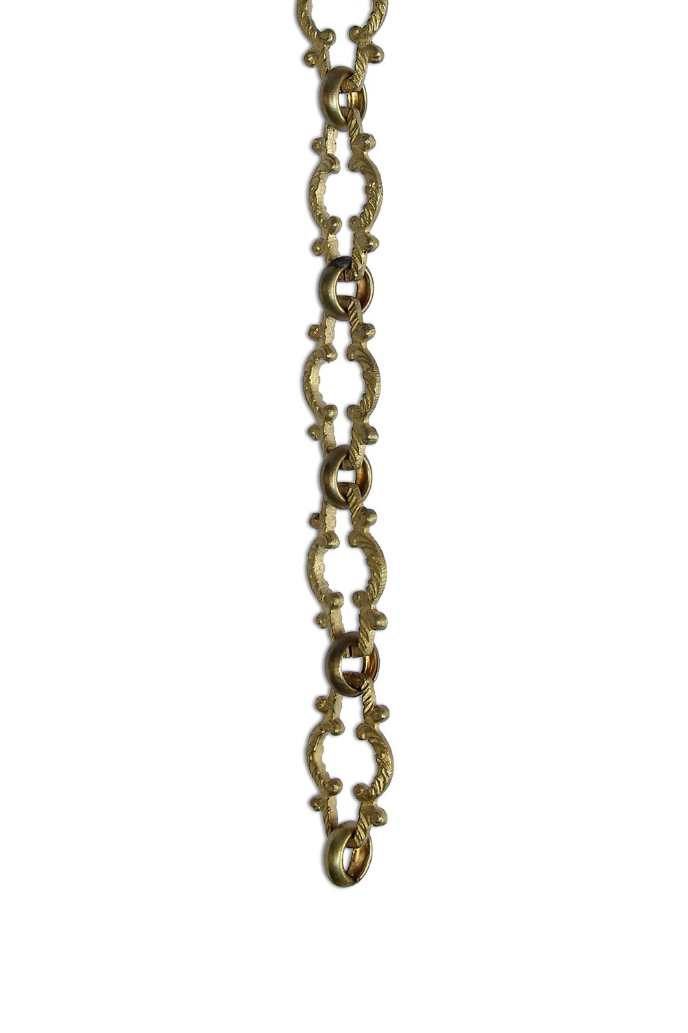 RCH Hardware CH-36-PB Decorative Polished Solid Brass Chain for Hanging, Lighting - Motif Unwelded Links (1 Foot)