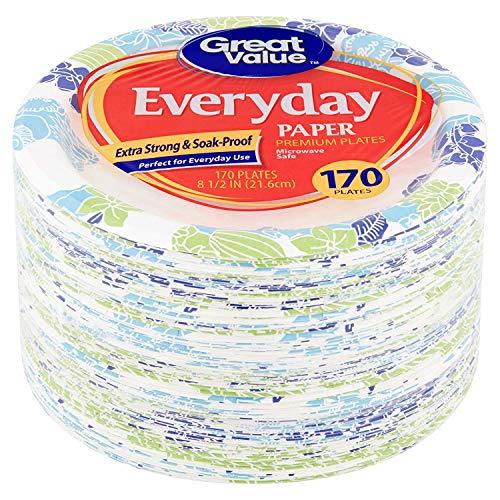 Great Value Everyday Premium Paper Plates, 8 5/8
