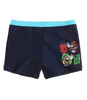 945c09831b Super Mario Bros Boys Swim short - navy blue - 10 yrs: Amazon.co.uk ...