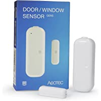 Aeotec Door Window Sensor Gen5, Z-Wave Plus Eanbled Security Sensor, Zwave Door Sensor Works with Zwave Hub SmartThings…