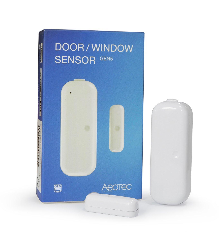 Aeotec Door / Window Sensor Gen5 with Tamper Sensor, Z-Wave Plus ON/OFF Magnetic Detector for Home Security Protection & Automation, Burglar Alert, Battery Powered