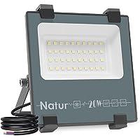 20 W LED-spot, voor buiten, LED-schijnwerper, 20.000 lm, 6000 K, superhelder, koelwit, IP66 waterdicht, buitenlamp…