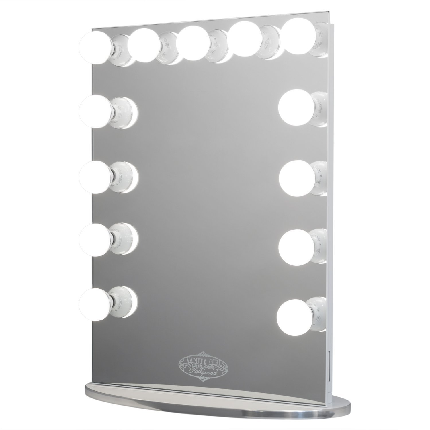 Vanity Girl Hollywood Infinity Mirror. Lighted (13 Bulb) Vanity Mirror with Dimmer by Vanity Girl Hollywood