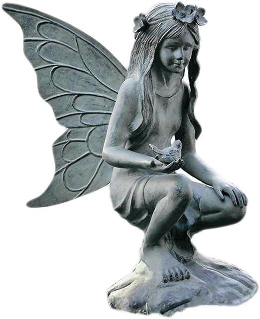 Jardín de hadas escultura, metal, verde, L: Amazon.es: Jardín