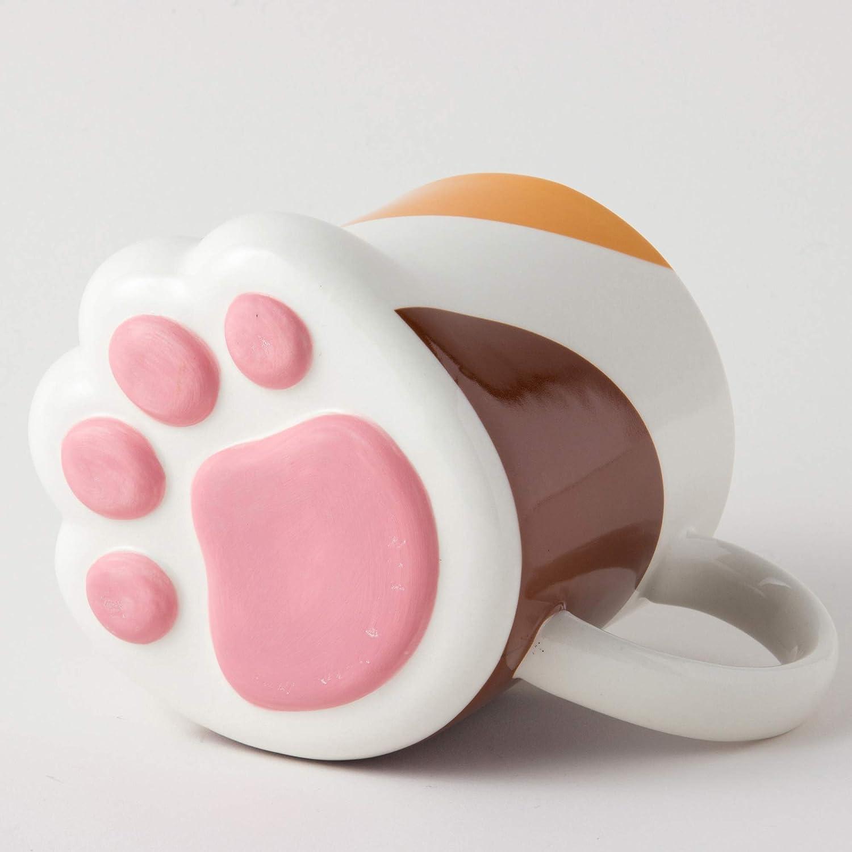 Mug Calico Cat Paw 9 Oz