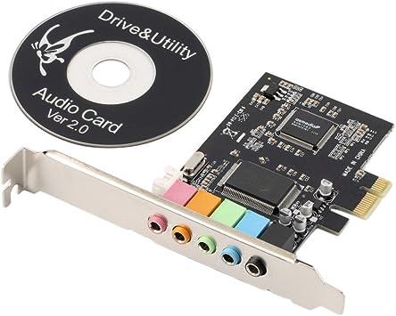 Amazon.com: Nueva PCI Express x1 PCI-E tarjeta de sonido 5.1 ...