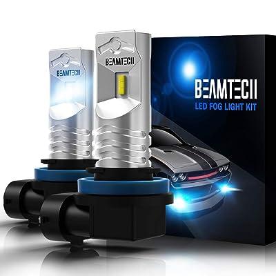 BEAMTECH H11 Led Fog Light Bulb, CSP Chips 6500K 800 Lumens Xenon White Extremely Super Bright: Automotive
