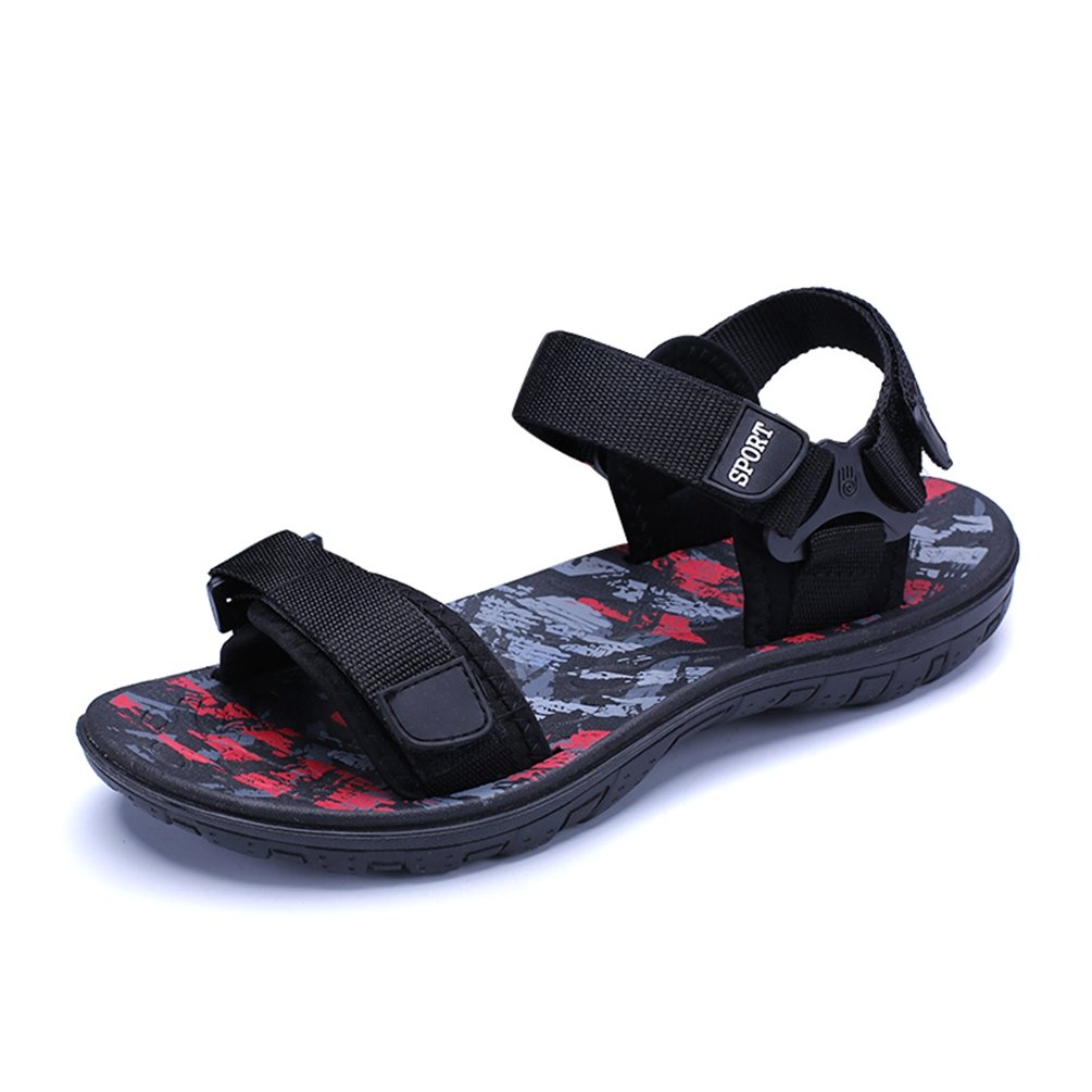 Mens Shoes Sommer Fashion Strandsandalen Mauml;nner Bequeme Atmungsaktive Casual Sandalen Schuhe fuuml;r Mauml;nner Sandalias  42 EU|Rot