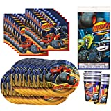 Blaze and the Monster Machines Birthday Party Supplies Bundle Pack for 16