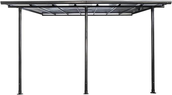 Pergola Belice, 4 x 3 m, negro: Amazon.es: Jardín