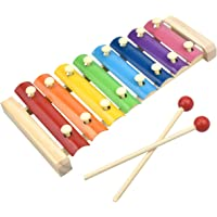 HQDeal Hand Knock Xylophone for Kids, Percussion Wood Xylophone for Educational& Preschool Learning Music Enlightenment for Toddlers Children
