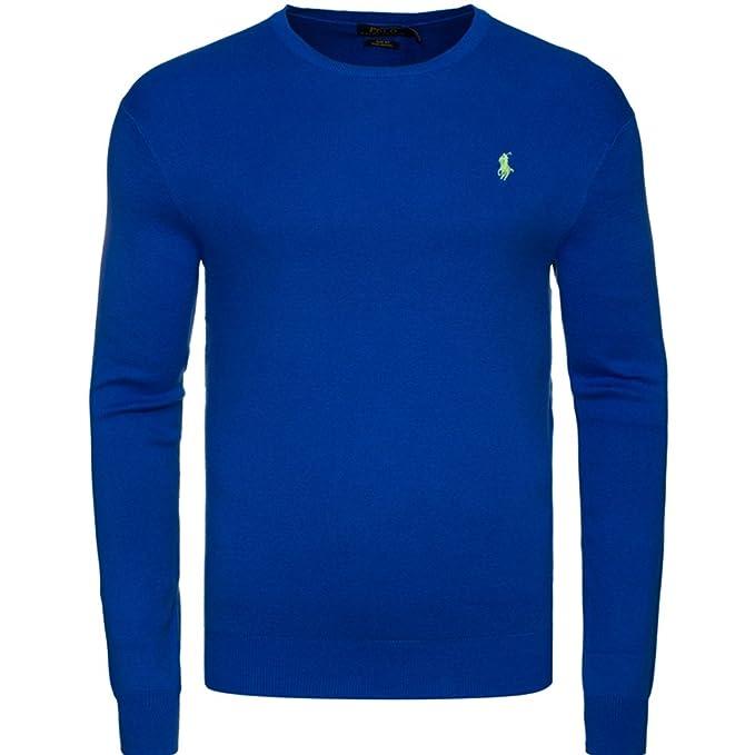 Jersey Ralph Lauren color Azul Saturn | cuello redondo | 100% algodón | SLIM FIT