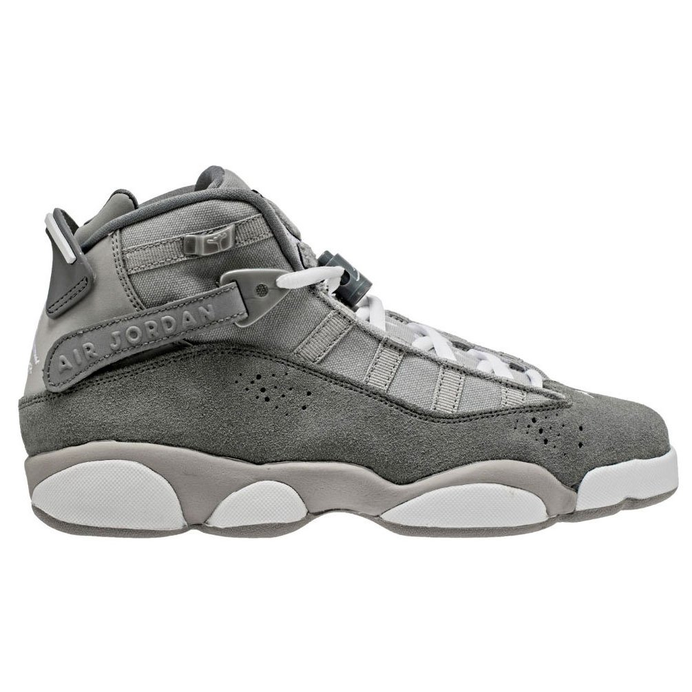 Matte argent blanc-cool gris Jordan Nike Enfants 6 Rings BG Basketball chaussures