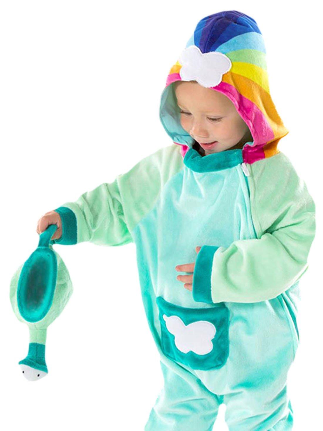 Confettery - Kinder Wolkenkind Jumpsuit Komplett Kostüm Karneval , Mehrfarbig, Größe 92-98, 2-3 Jahre