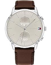 Tommy Hilfiger Dark Brown Leather Men's Multi-function Watch - 1710404