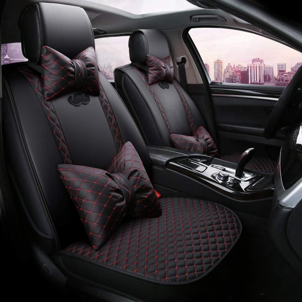 チャイルドシートカバーユニバーサルセットサイドエアバッグ対応、5人乗り車用フェイクレザーモーションフルセットのフォーシーズンズパッド、エアバッグクッション対応(カラー:ブラック)  Black B07T4HYJFN