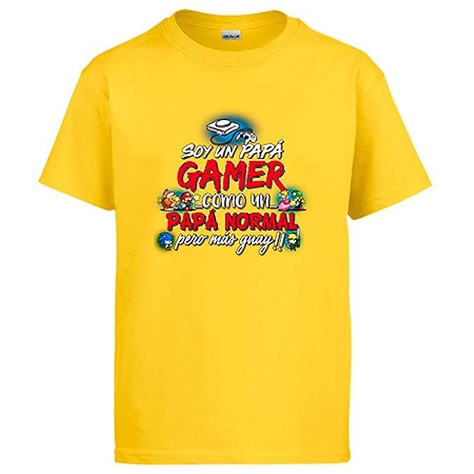 Diver Camisetas Camiseta Soy Un Papá Gamer Como Un Papá Normal Pero Más Guay: Amazon.es: Ropa y accesorios
