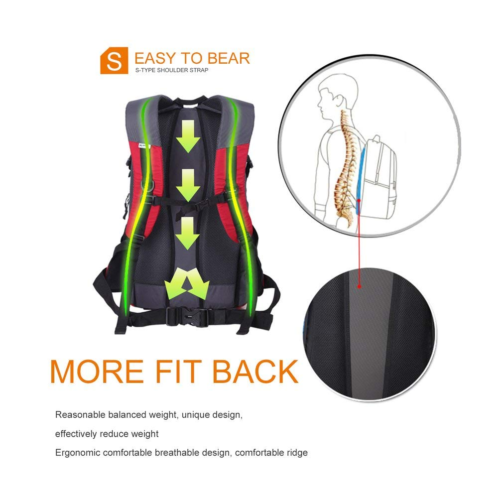 YTYC KCB4000 25L Outdoor Large Capacity Bags Polyester Shoulder Climbing Backpack