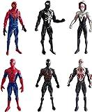 Lalosliv 6pcs Spiders Action Figures - Super Heroes Figures with Accessories – Spiders Super Heroes Set
