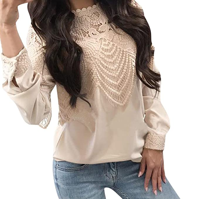 Amazon.com: ZYooh - Camisetas de encaje para mujer ...