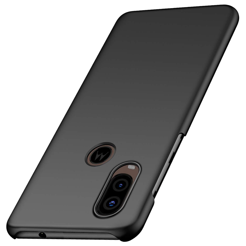 Funda Para Motorola One Vision Super Delgada, Negra