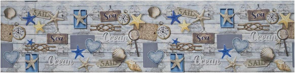 BIANCHERIAWEB Tappeto Passatoia Antiscivolo Stampa Digitale Sprinty LOriginale Dis Ocean 50x90 Ocean