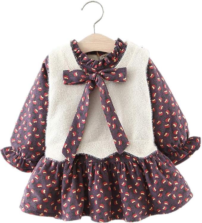 Vestidos de Bebé Niñas, Allskid Invierno Manga Larga Bowknot ...