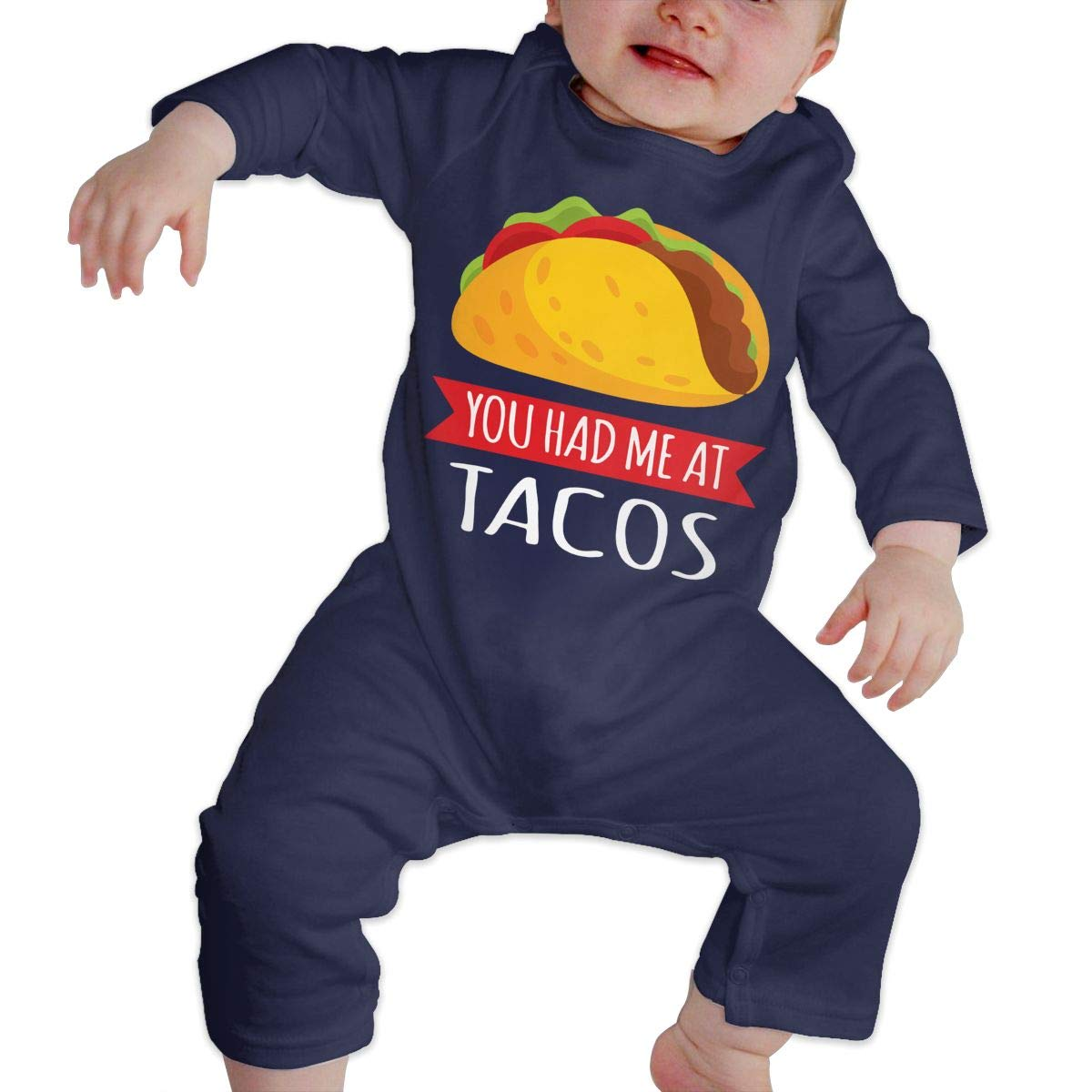 LBJQ8 You Had Me at Tacos2 Newborn Infant Baby Girls Essential Basic Playsuit Outfit Clothes