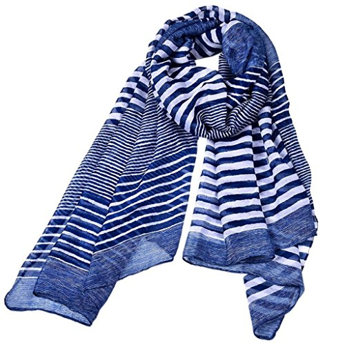 Creazrise Women Lady Shawl Striped Printing
