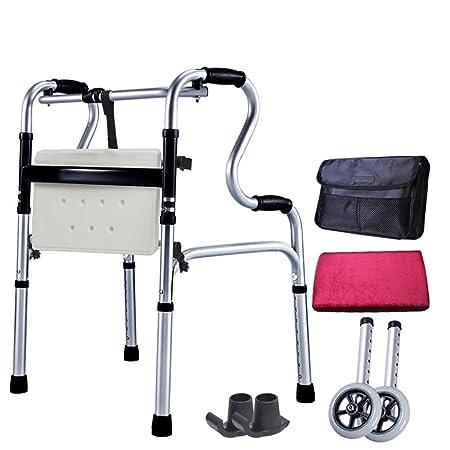 Standard walker Andador Plegable de Aluminio con 2 Ruedas médicas ...