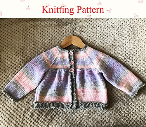Picot Edging (Jacket/Cardigan with Garter Picot Edging to fit 6 to 24 month old baby)
