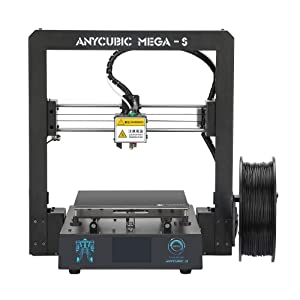 ANYCUBIC Mega-S New Upgrade 3D Printer with Extruder and Suspended Filament Rack + Free Test PLA Filament, Works with TPU/PLA/ABS