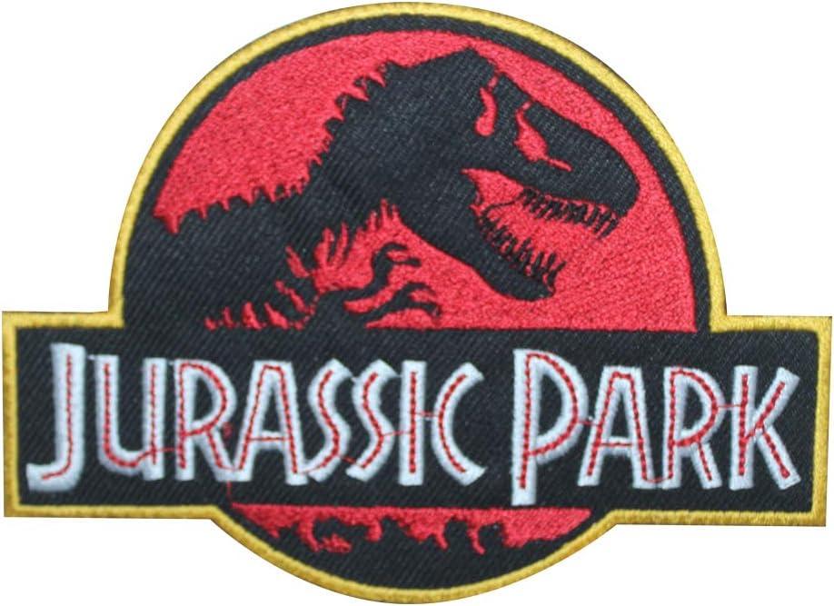 Parche bordado para coser o planchar de Jurassic Park, para ropa, camisas, vaqueros, etc.