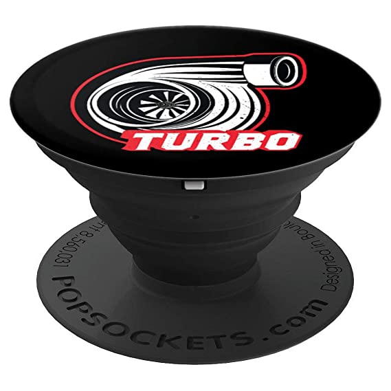 Turbo Tuning | Gift Car Lover | Retro Racing Style - PopSockets Grip and Stand for
