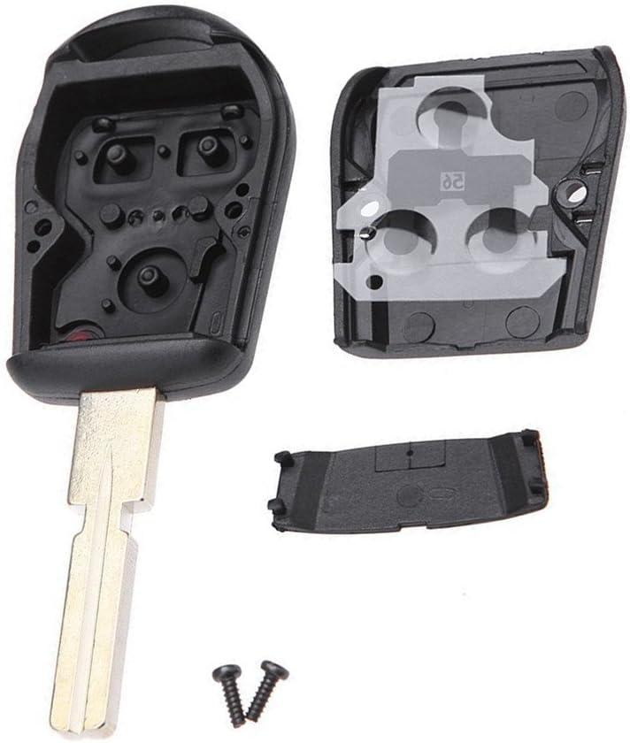 WFMJ 2pcs 3 Buttons Smart Remote Car Key Case Shell Fob for BMW 3 5 7 Series Z3 E39 E46 E36 E38 Replacement Key Fob No Chip