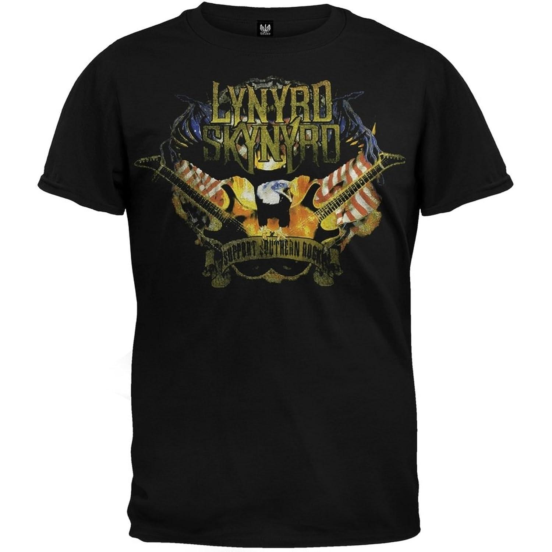 Lynyrd Skynyrd - Support Southern Rock Black T-Shirt
