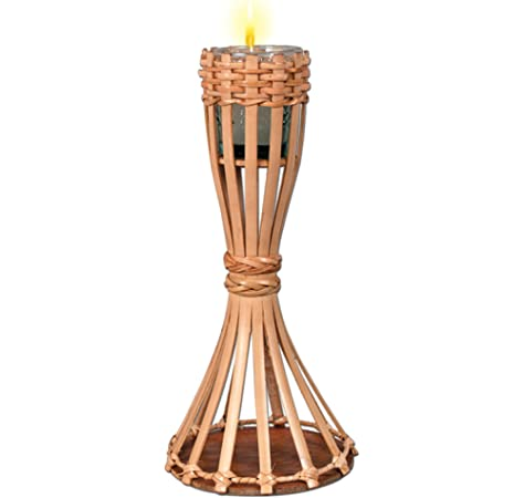 Party Accessory Tabletop Bamboo Torch 1//Pkg candle included 1 count