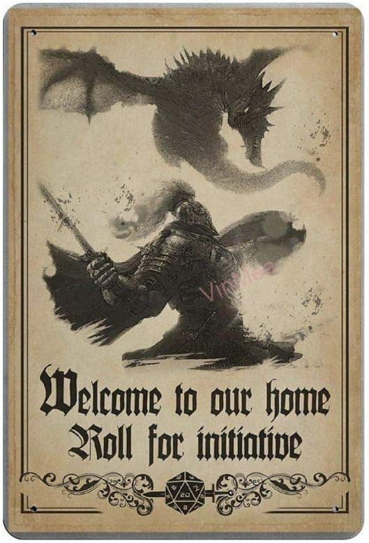 """Vintage Poster Metal Sign - Welcome to Our Home Roll for Initiative Metal Tin Sign Wall Decor 12"""" X 18"""""""