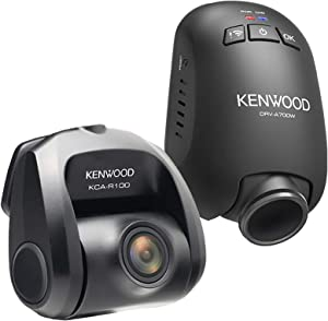 Kenwood DRV-A700WDP Compact HD Dash cam with Wi-Fi and GPS — Includes Rear-View cam