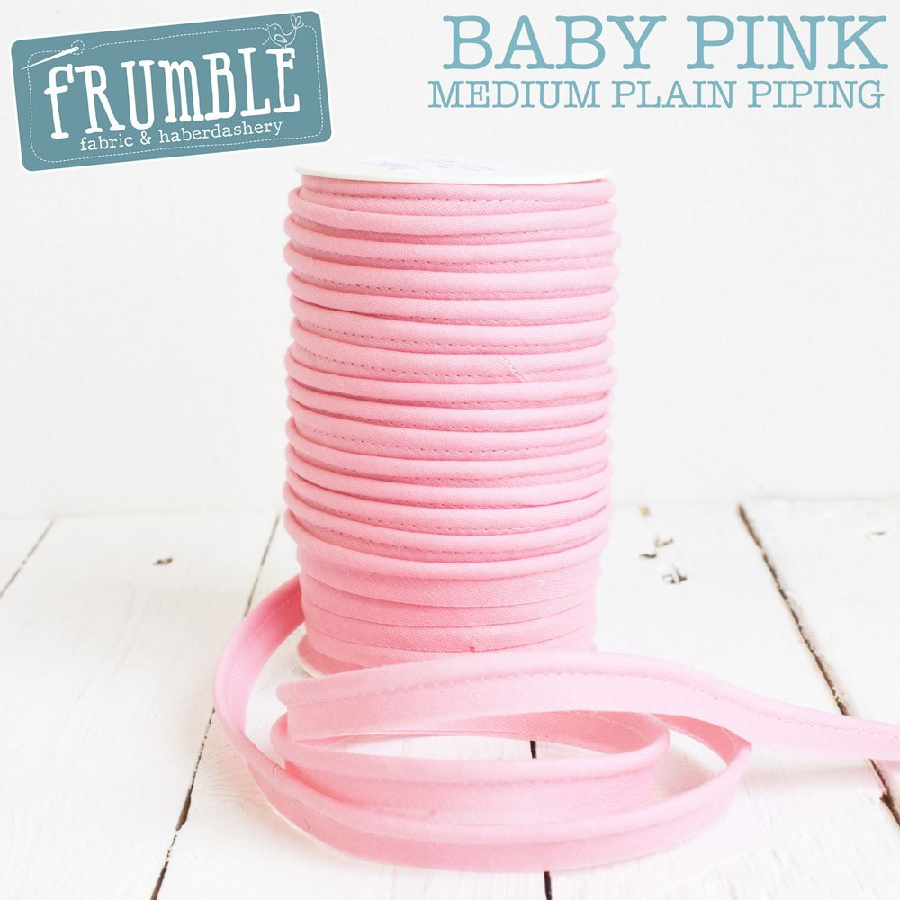 12mm Baby Pink Medium Piping 5m Length - Piping Cord Bias Edge Cording Corded Trim Piped Trimming Frumble